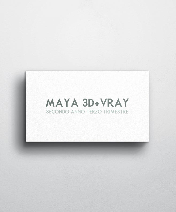Rendering e Animazione con MAYA, V-Ray e Camera Tracking